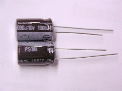 20 Nichicon UPS1A102MPD 1000uF 10V 105C Radial Electrolytic Capacitors 10x16mm