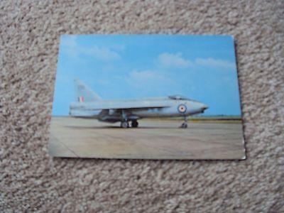 royal air force raf lightning jet fighter plane colour photograph postcard