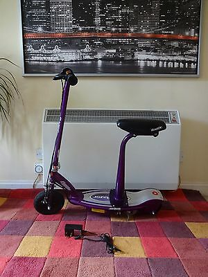 Razor E100S Electric Scooter with Seat (Purple) 24 Volts