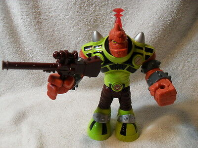 """2007 Talking Light-Up Slash the Red Giant 9"""" Planet Heroes Action Figure Weapon"""
