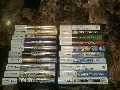 Lot of 17 Nintendo DS games INCLUDING brain age & Hannah Montana