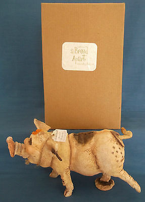 Bnib Country Artists A Breed Apart Pembroke Pig Figurine Grant Palmer Ca00497