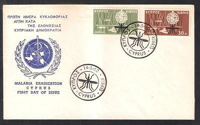Cyprus 1962 The World United Against Malaria  Nice Fdc Medicine Insects (D)