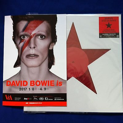 David Bowie - Blackstar Clear Red Vinyl - V&a Japan Exclusive - Ltd Edition