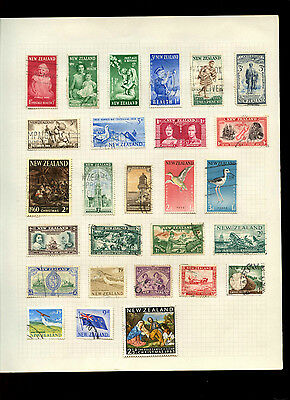 New Zealand Album Page Of Stamps #V5010