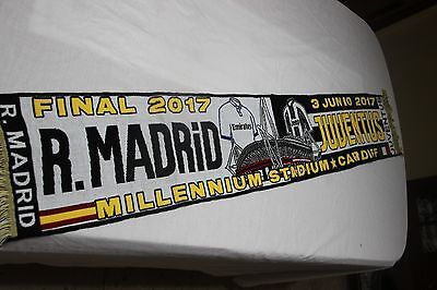 Bufanda De La Final Champions League 2017 Real Madrid Y Juventus Turin  Scarf