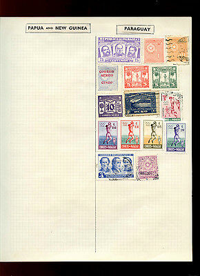 Paraguay Album Page Of Stamps #V5026