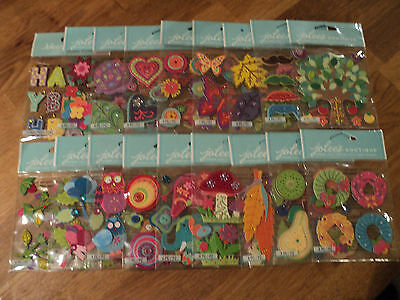 Assorted Jolee's Boutique Stitched Colorful Dimensional Stickers Bnip You Choose