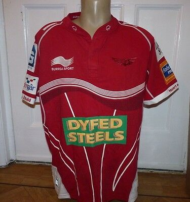 Llanelli Scarlets Rugby Jersey Top/ Shirt Size X Large 44-46 inch chest