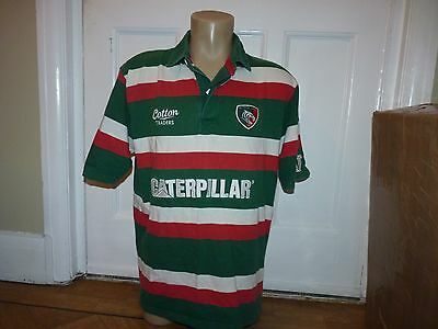 Leicester Tigers Rugby Jersey Shirt Size Large 42-44 Inch Chest