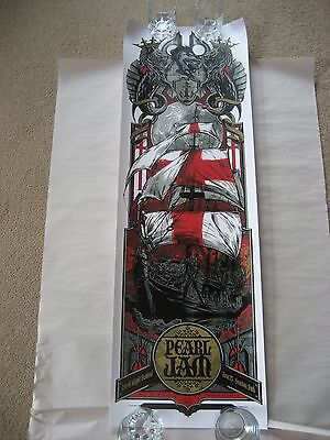 Pearl Jam 2012 Concert Tour Poster Isle Of Wight Rhys Cooper Ken Taylor Rare