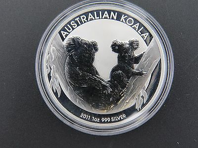2011 1 oz THE AUSTRALIAN KOALA SILVER COIN .999 $1 DOLLAR AUSTRALIA