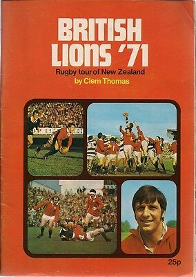 British Lions '71 1971 Rugby Tour of New Zealand magazine by Clem Thomas UK