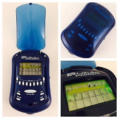Radica 2006 Flip Top Lighted Handheld Electronic Solitaire Game Works 100%