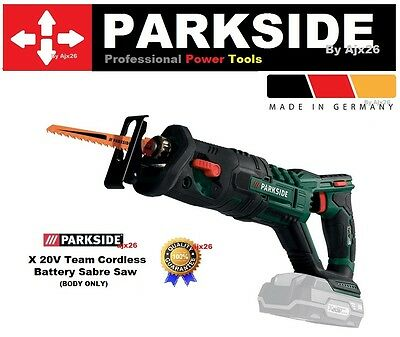 Parkside X 20v Team Cordless Battery Sabre Reciprocating Saw PSSA 20-Li A1 BARE