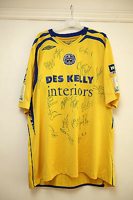 Bohemians FC Ireland Match Worn Football Shirt - Squad Signed 2009 LEAGUE CHAMPS