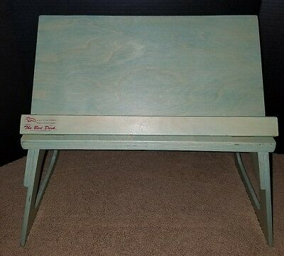The Bed Desk by Layd Back Products Turquoise EUC