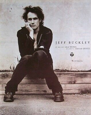 JEFF BUCKLEY 1997 Poster Ad TRIBUTE grace