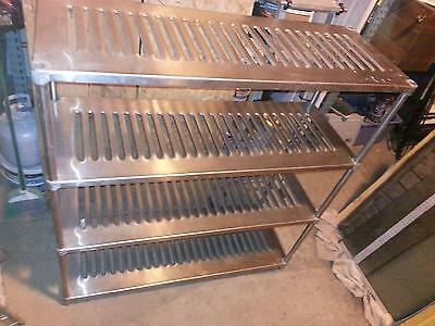 """Stainless Steel Commercial Restaurant Kitchen Shelving 4- Tier H 60"""" x W 56""""xD 2"""