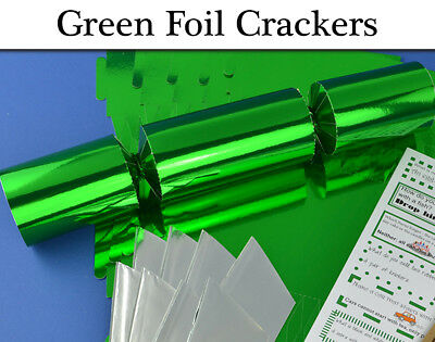 Green Foil Make & Fill Your Own Cracker Making Craft Kits & Boards