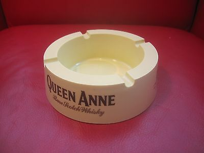 Vintage: QUEEN ANNE RARE SCOTCH WHISKY Advertising  Ashtray Bar HILL THOMSON CO.