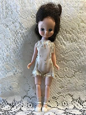 "Betsy McCall Doll Brunette Wig Vintage Collectible 50s Sleepy Eye 8"" Bisque Head"