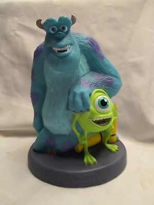 Disney Pixar MONSTERS INC Molded Plastic Coin Bank with Stopper 2001 Mike Sully