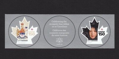 ca. CANADA 150 MS pair with midd tab CONSTITUTION, NUNAVUT, MNH Canada 2017