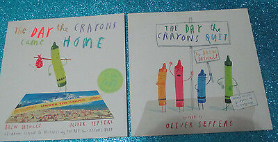 THE DAY THE CRAYONS QUIT/CAME HOME - Drew Daywalt - Children's Picture Books x2