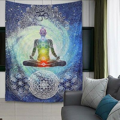 Queen Size Mandala Tapestry Hippie Wall Hanging Bedspread Throw Bohemian Decor