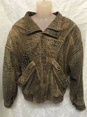 Vintage Leather Jacket Men's Size Large Super Soft Luxurious Leather Brown VGC