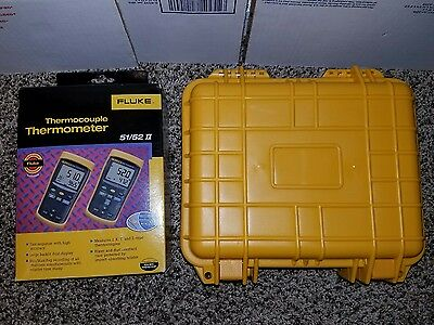 Fluke Thermocouple Thermometer 52 ll new in box, with new hard case.