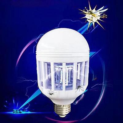 LED Anti-Mosquito Bulb 15W 1000LM 6500K Electronic Insect Fly Lure Kill Bulb WT