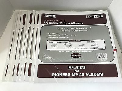 Lot 9 Packs Pioneer Refill Pages 4x6 Inch Photos MP-46 Albums X-Pando Post Style