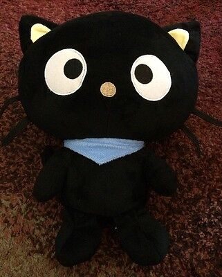 "Fiesta Sanrio Black Cat Plush Chococat 15.5"" 2012"