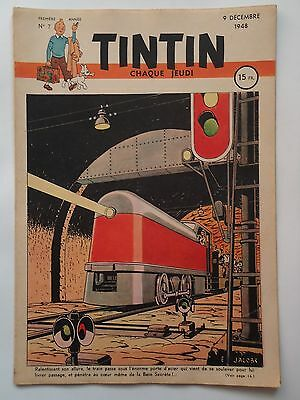 JOURNAL TINTIN n° 7  COUVERTURE DE E.P JACOBS  09/12/1948