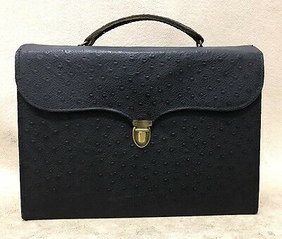 Avon Vintage 1950s Rare Ostrich Leather Brief Representative Catalog and Extras