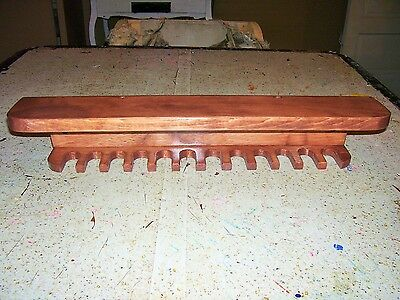 Mini Baseball bat rack  holds 12 bats with 3/4 in. neck Stained Cherry