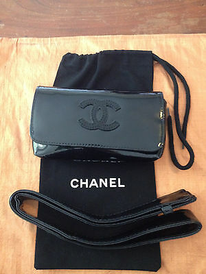 New Chanel Waist Bag*fanny Pack*bum Purse*europe*with Security+Sleeper*jet Black