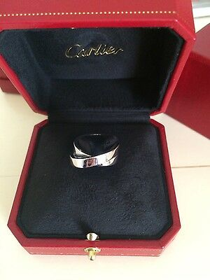 Cartier Nouvelle Vague 18ct White Gold Ring size 51