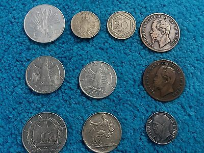 ITALY coins dated from 1863 to 1950 -  see pictures