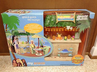 Barbie Doll My Scene Jammin in Jamaica Guava Gulch Tiki Lounge Bar Playset Rare