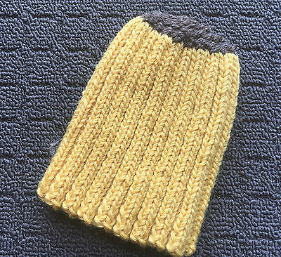 "BANANA TOP ""Lt Yellow"" Baby Girl's Boy's Warm Knitted Acrylic Beanie Hat *NEW*"
