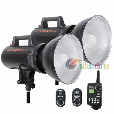 GODOX GT-300 2x300W High Speed Studio Strobe Flash Light Bowens Mount + Trigger