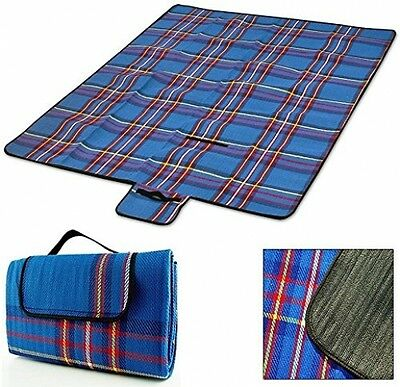 Picnic Blanket 200 X 200 Cm Waterproof Backing Light Foldable Large Outdoor