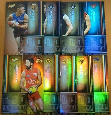 2017 Select Afl Footy Stars Milestones Mg Bulk Lot 9 Cards