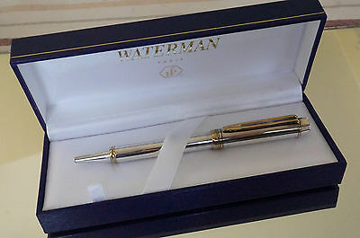 """RARE  -  WATERMAN MAN 100 """"1983""""  LE Smooth STERLING SILVER Ballpoint - Perfect"""