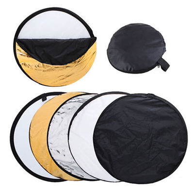 """80cm 32"""" 5-in-1 Photo Photography Studio Light Mulit Collapsible Reflector Case"""