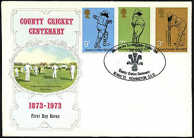 GB FDC 1973 County Cricket, Kennington SE11 H/S #C41984
