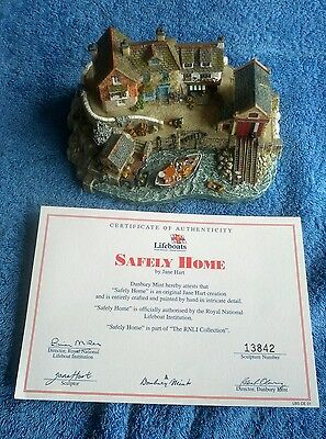 Danbury Mint - Safely Home By Jane Hart Rnli Collection, Including Certificate